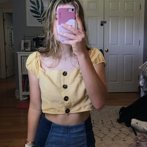 ROMA Off the Shoulder Button up Top